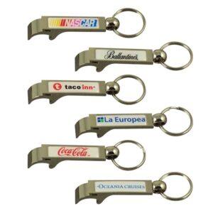 Low cost Aluminium bottle opener key ring