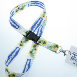 Sublimation printed Polyester Lanyard