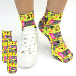 Sublimation Printed Ankle Socks