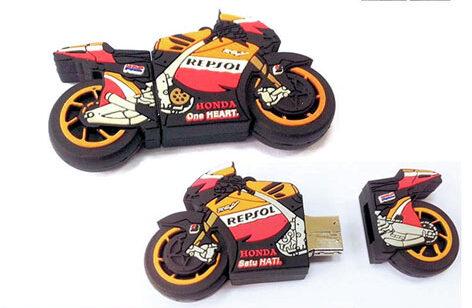 Custom 3D pvc usb drive motor bike