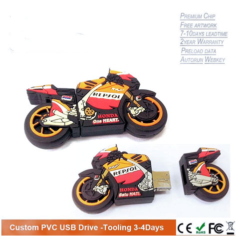 custom pvc usb drive