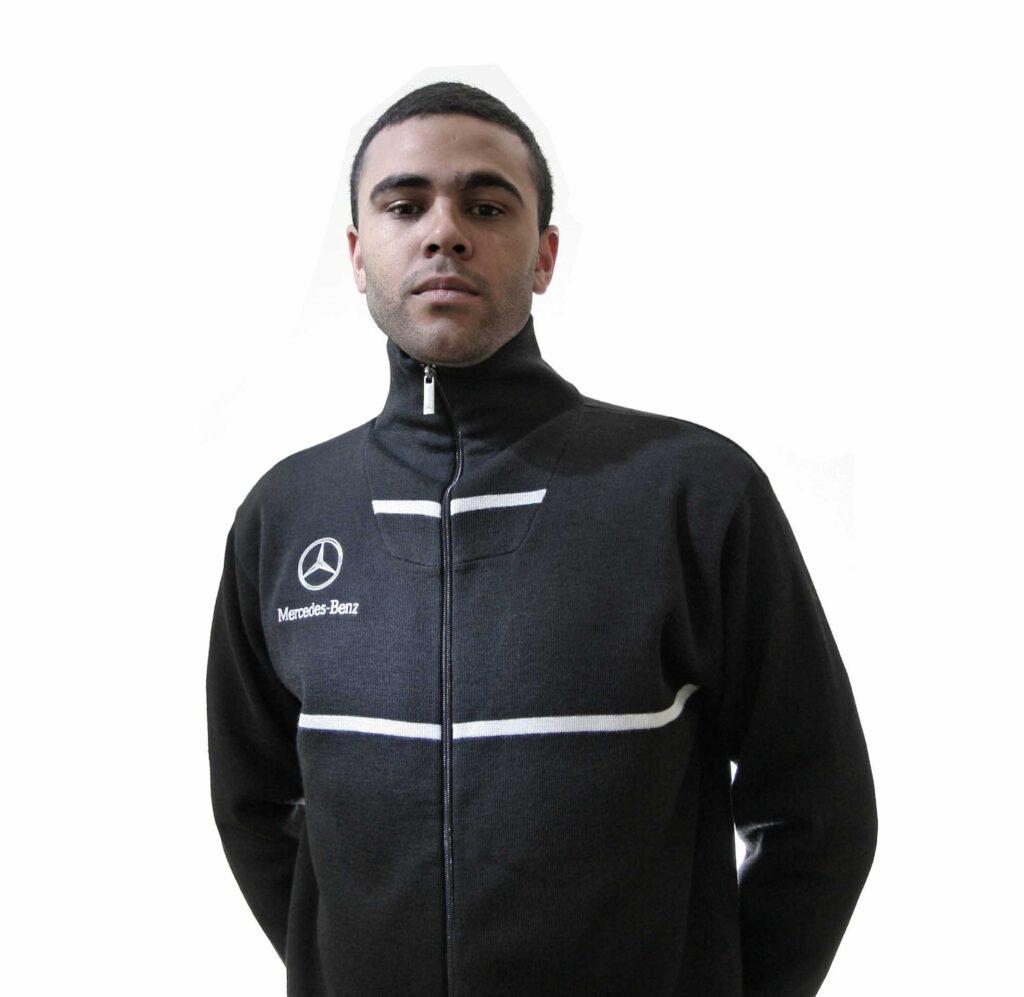 Black Sweatshirt with Mercedes branding