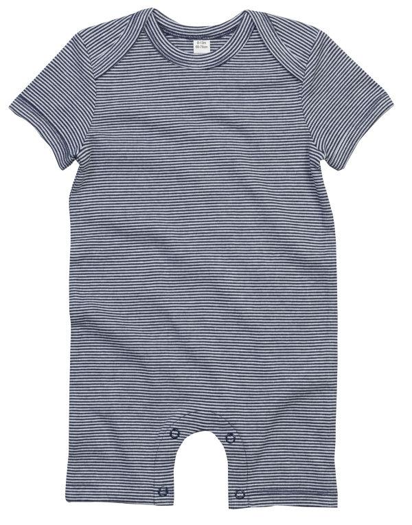 Stripey baby bodysuit