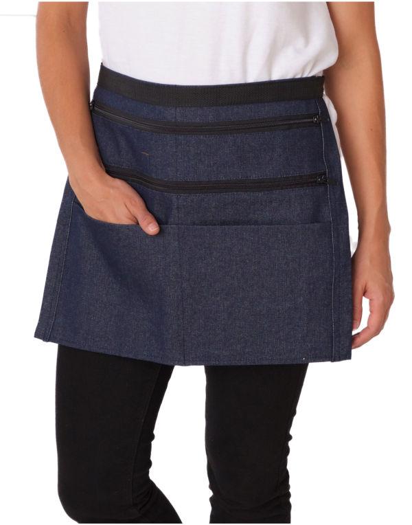 Denim waist money pocket apron