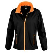 Orange and black softcell jacket