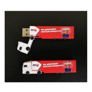 3D PVC USB Drive Lorry