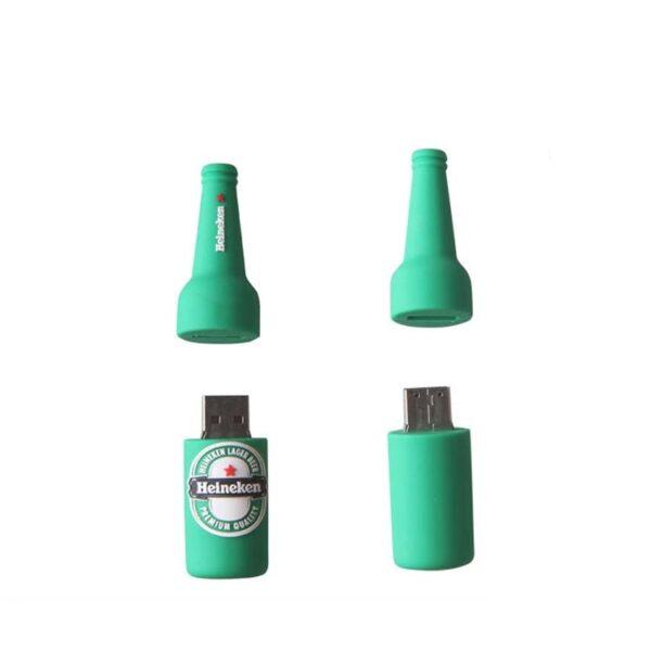 3D PVC USB Drive Heineken