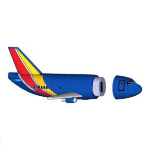 3D PVC Power Bank Plane