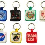 Plastic keyrings with logo