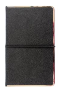 Metal framed cover notebook