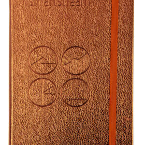 Metallic Copper PU Notebook with embossing